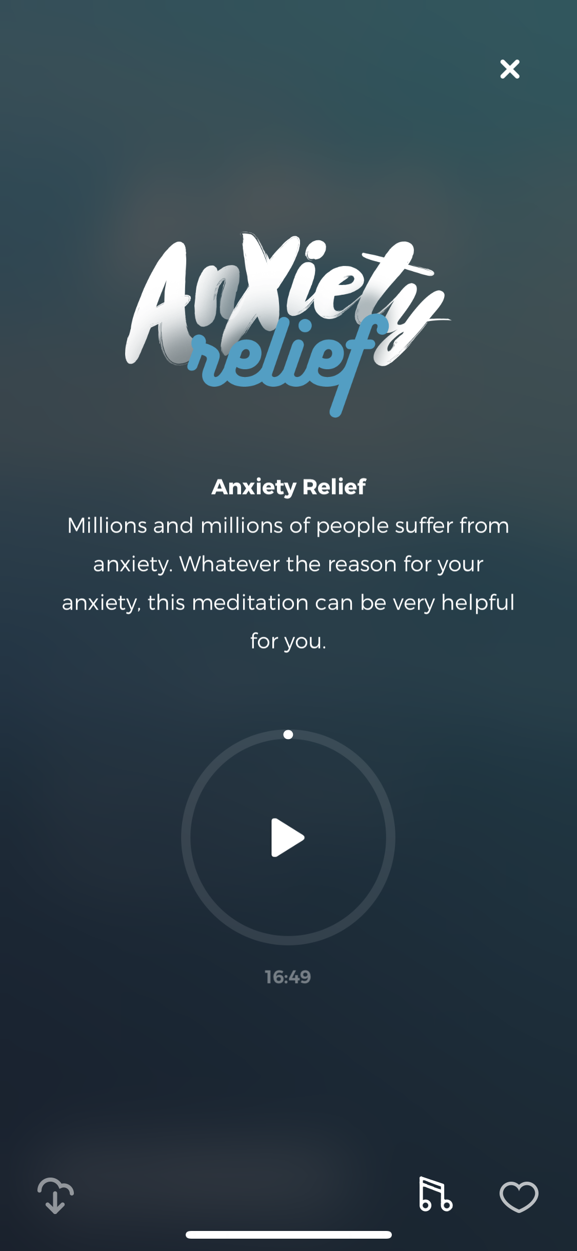 anxiety relief guided meditation | zen app