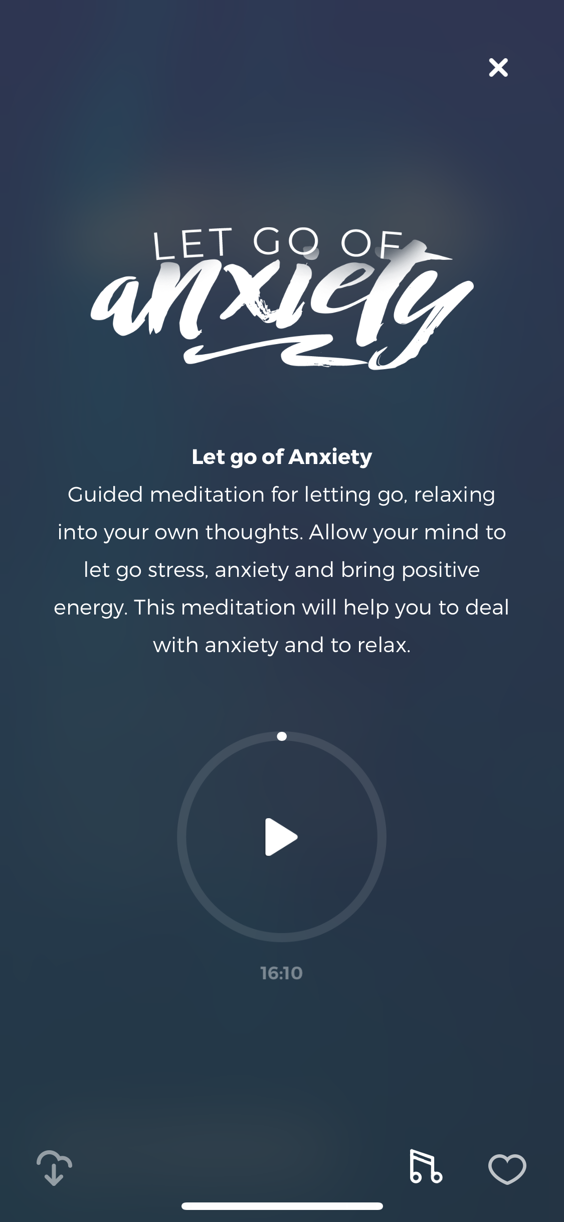 let go of anxiety guided meditation