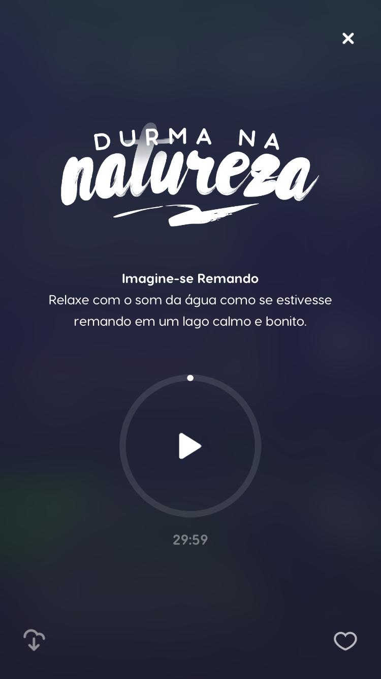 tela da meditação guiada durma na natureza do Zen app para ajudar em como combater a insônia