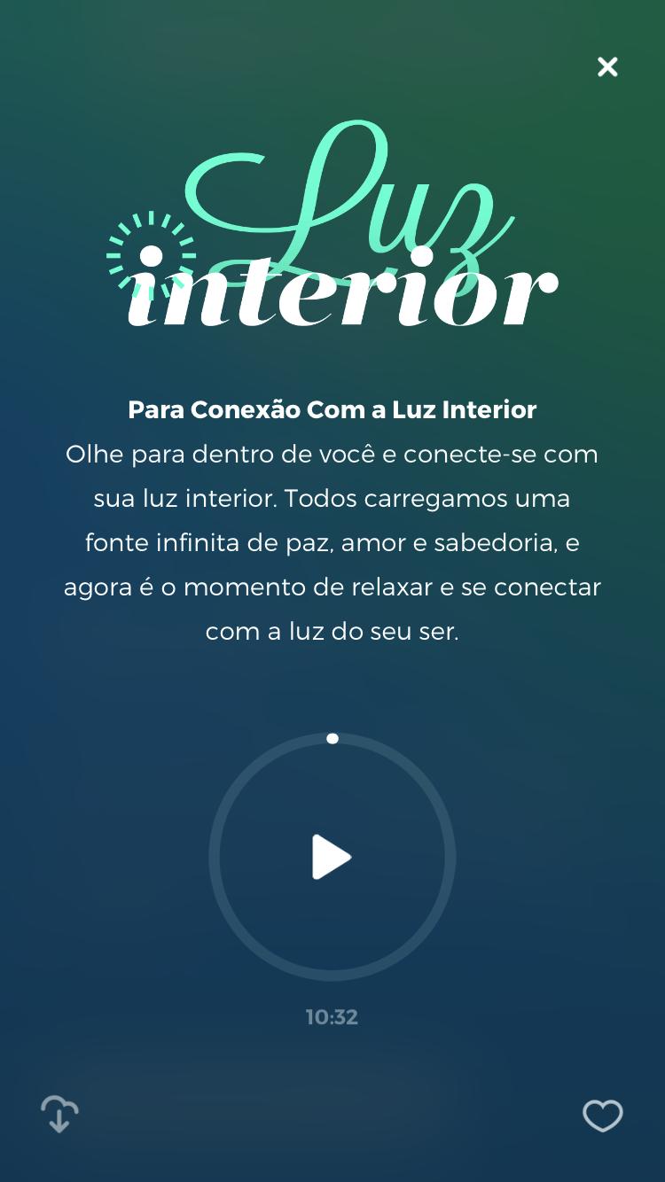 meditação guiada para relaxar luz interior do zen app