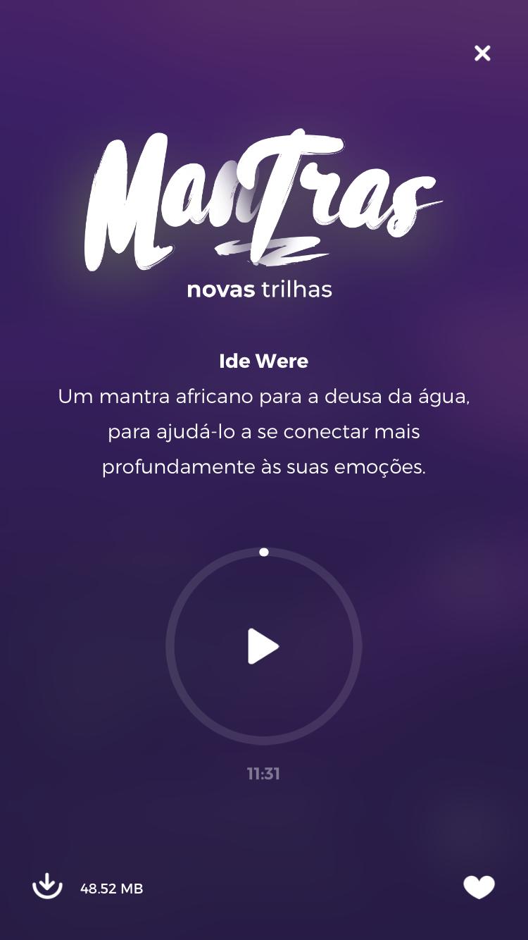 tela do mantra Ide Were do Zen app para aprender como meditar