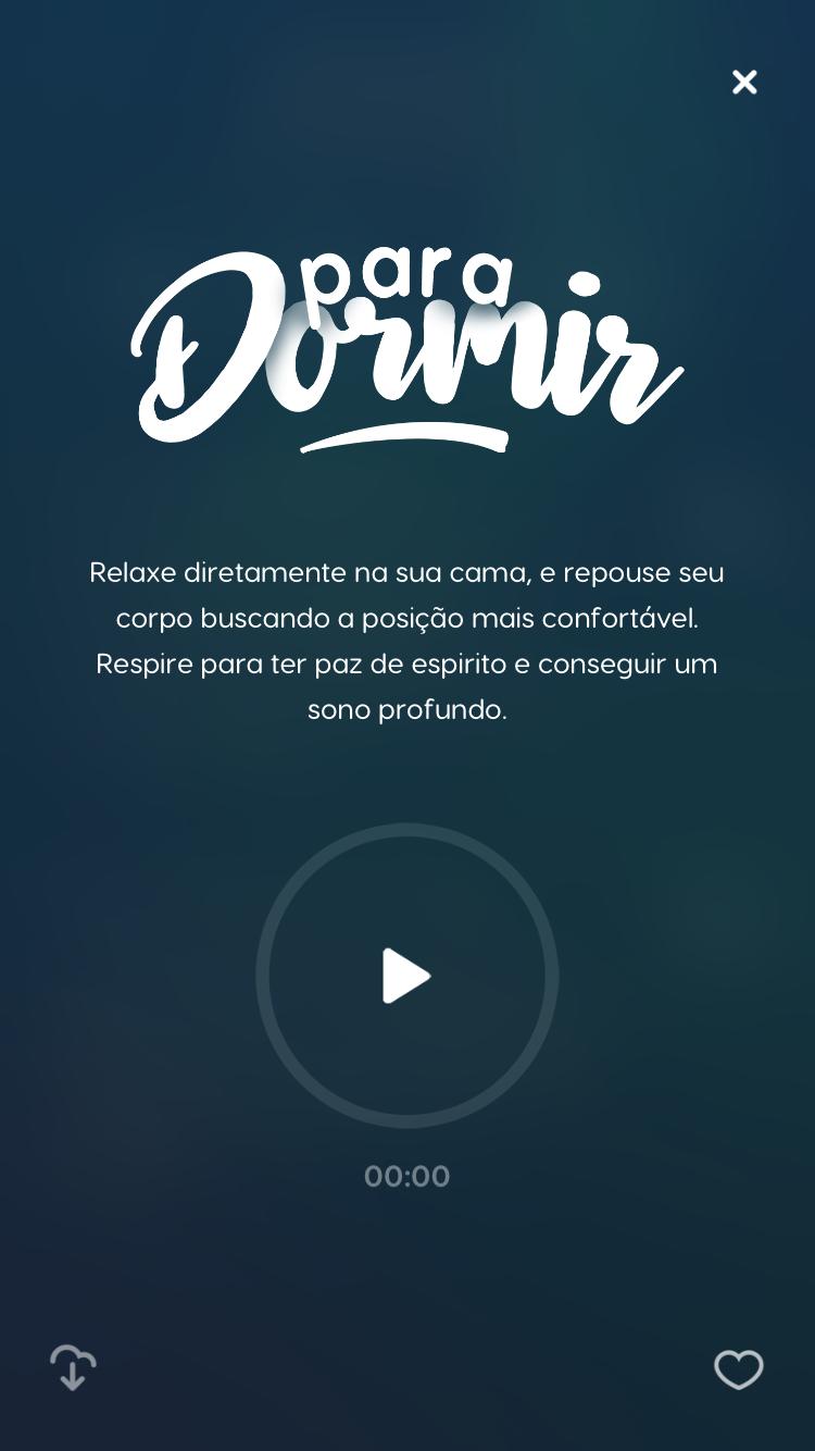 tela da meditação guiada Para Dormir do Zen app