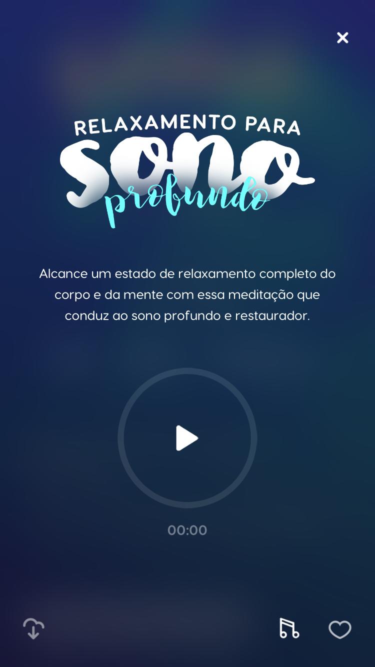 tela da meditação Relaxamento para um Sono Profundo do Zen app
