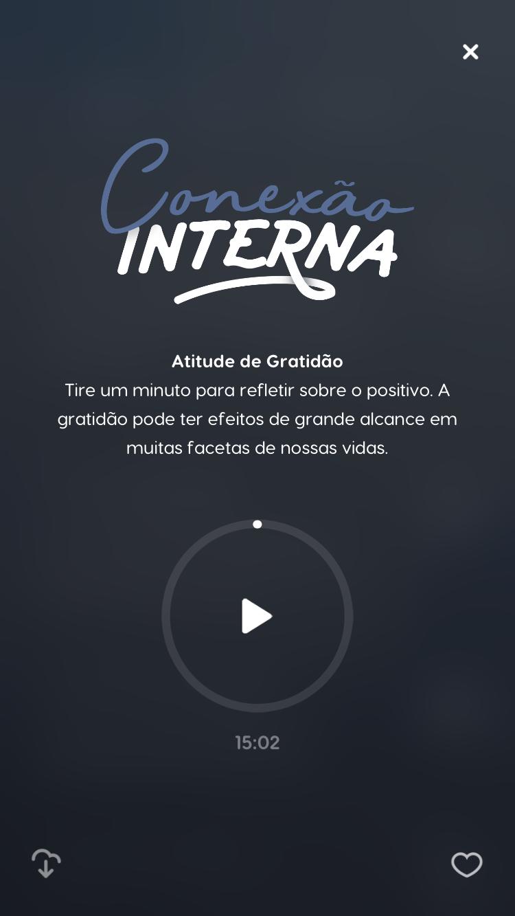 tela da música de meditação Atitude de Gratidão do Zen app
