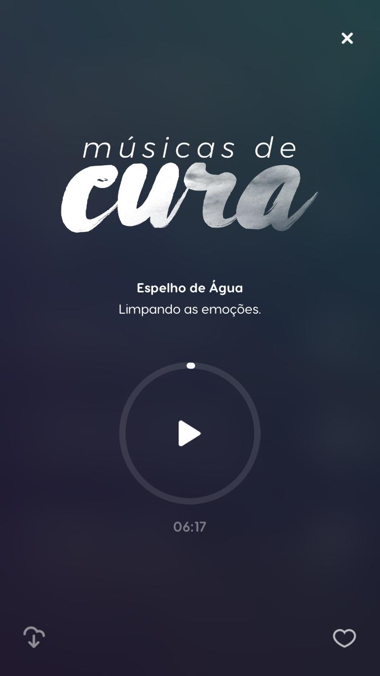 tela da música de meditação Espelho da Água do Zen app