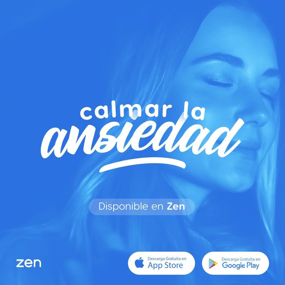 """tela da meditação para ansiedade e nervosismo do zen app """"Calmar la ansiedad"""""""