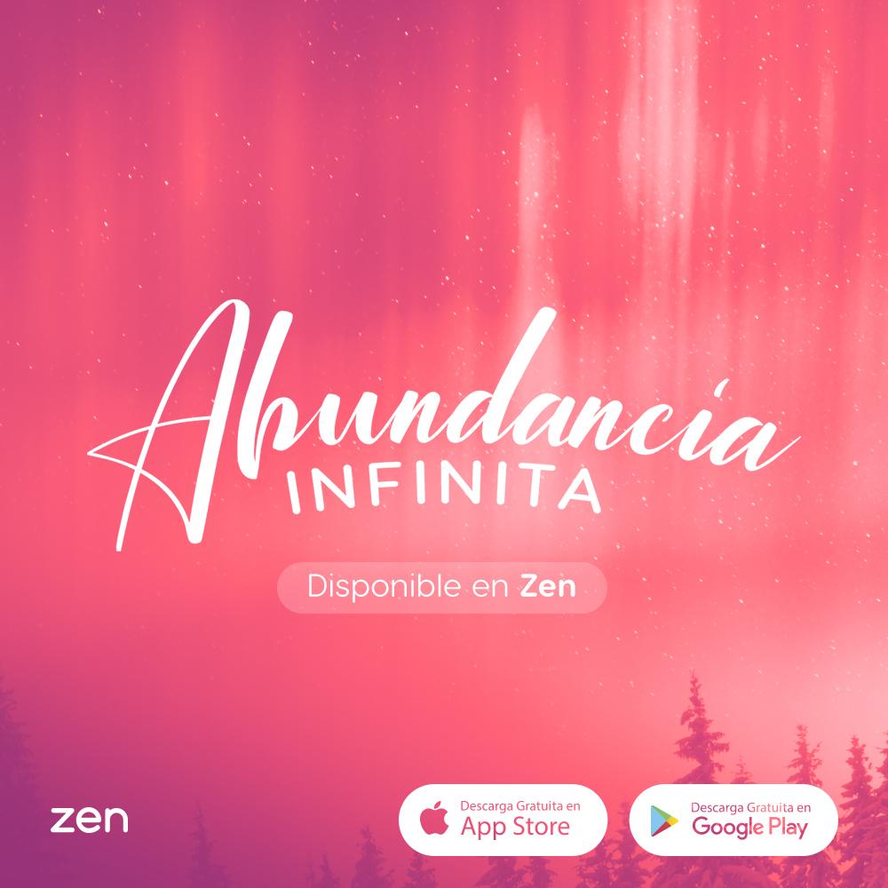 """cover da meditação guiada """"Abundancia Infinita"""" do Zen app para estimular a saúde mental"""