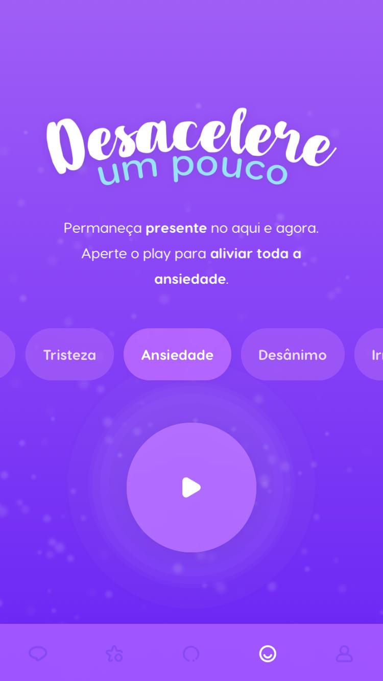 """tela da """"Terapia Diária"""" para ansiedade, disponível no Zen app"""